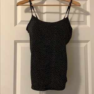 Cami. Black with pink polka dots. 32 E.